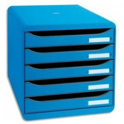 Module - BIG BOX PLUS - 5 Tiroirs - Bleu - EXACOMPTA