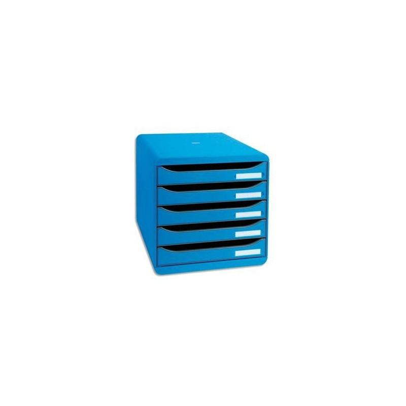 Module - BIG BOX PLUS - 5 Tiroirs - Bleu - EXACOMPTA