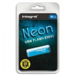 Clé USB - 2.0 - 16GO - NEON - Bleu - INTEGRAL