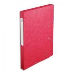 Chem/3 Rab+Elast - CARTOBOX - D2,5cm - Rouge -  EXACOMPTA