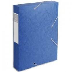 Chem/3 Rab+Elast - CARTOBOX - D6cm - Bleu-  EXACOMPTA