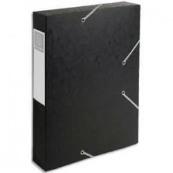 Chem/3 Rab+Elast - CARTOBOX - D6cm - Noir-  EXACOMPTA
