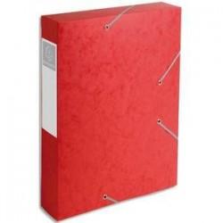 Chem/3 Rab+Elast - CARTOBOX - D6cm - Rouge-  EXACOMPTA