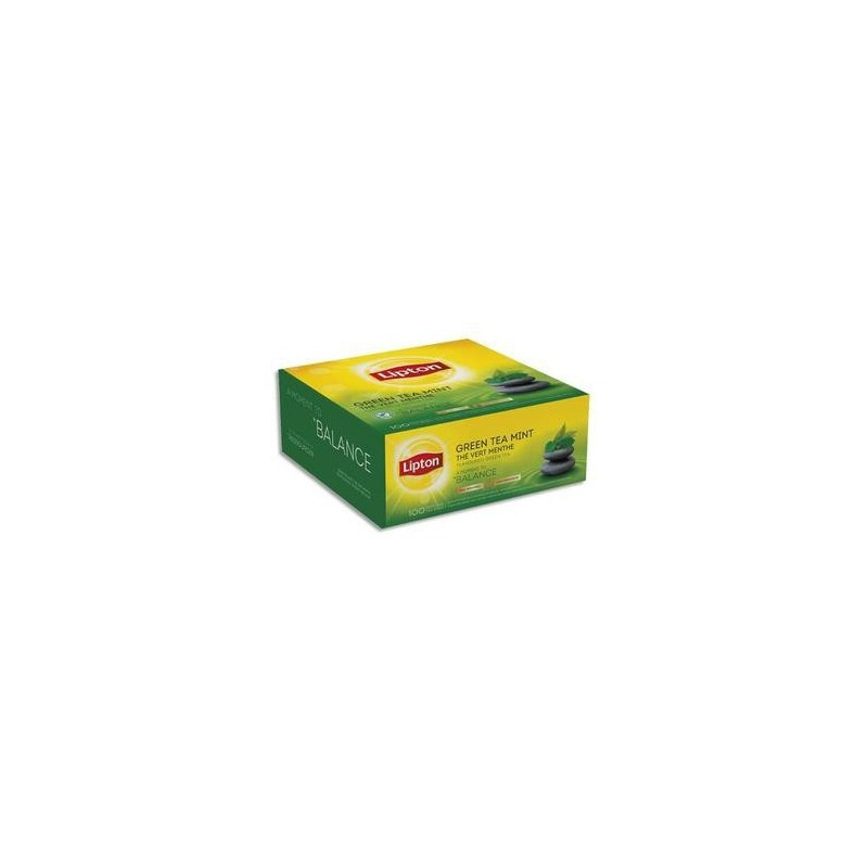 Bte/100 Sachets - Thé - Vert Menthe - LIPTON