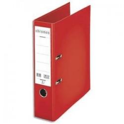Classeur/Levier - CHROMOS PLUS - Dos 8cm - Rouge - ESSELTE