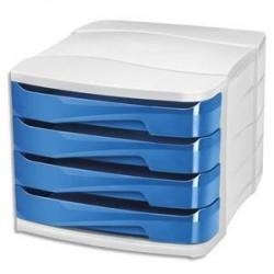 Module/clas - 4 tiroirs - GLOSS - Bleu océan - CEP