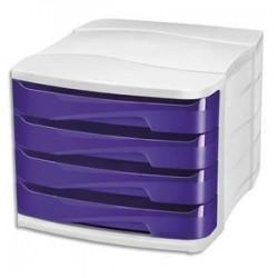Module/clas - 4 tiroirs - GLOSS - Violet- CEP