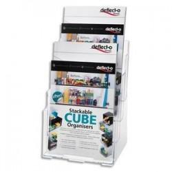 Porte Brochure - 4 cases - Format A4 - DEFLECTO