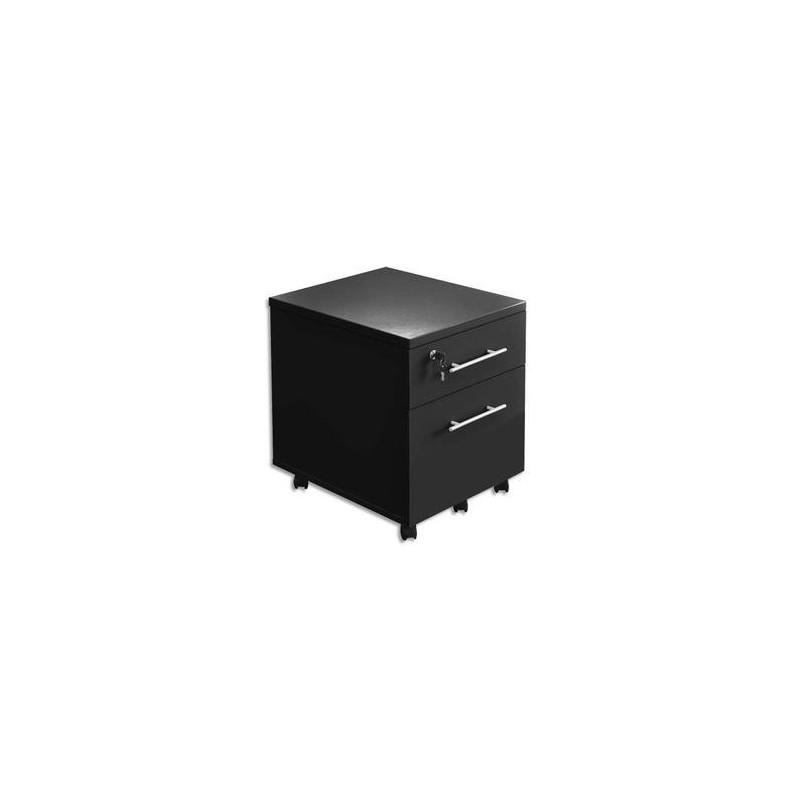 Caisson mobile - 1 T + 1 DSusp - MT3 ELEGANCE - Noir - MTI