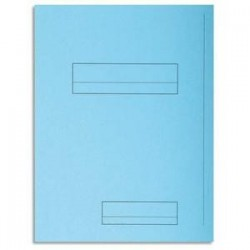 Pq 50 Chem - 2 rabats - SUPER 250 -Bleu clair - EXACOMPTA