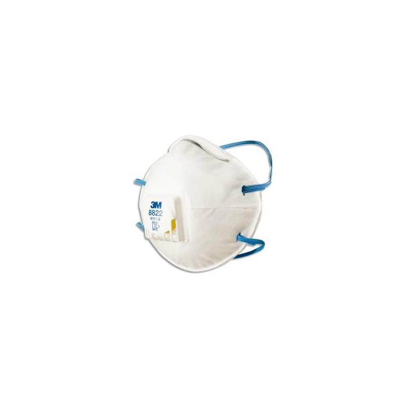 3M Boîte de 10 Masques FFP2 avec soupape K8822