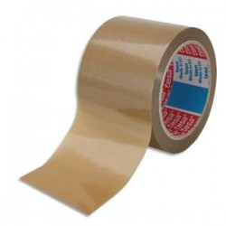 TESA Ruban d'emballage PVC colle caoutchouc 52 microns - Dimensions : H75 mm x L66 mètres havane