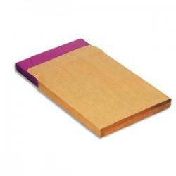 LA COURONNE Boîte de 250 pochettes kraftadour auto-adhésives 120g 3soufflets format 229x324 fenêtre50x110