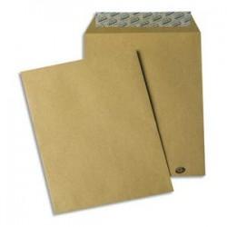 GPV Paquet de 50 pochettes kraft brun auto-adhésives 85g format B5 176 x 250 mm