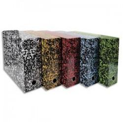 EXACOMPTA Boîte transfert marbrée Anoney, carton rigide recouvert papier vernis, dos 9cm, assortis