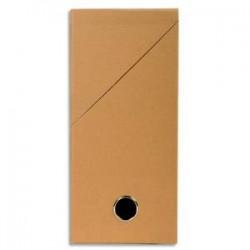 EXACOMPTA Boîte de transfert, carton rigide recouvert de papier toilé, dos 12 cm, 34x25,5 cm, havane