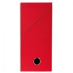 EXACOMPTA Boîte de transfert, carton rigide recouvert de papier toilé, dos 12 cm, 34x25,5 cm, rouge
