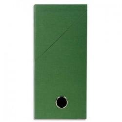 EXACOMPTA Boîte de transfert, carton rigide recouvert de papier toilé, dos 12 cm, 34x25,5 cm, vert