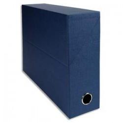EXACOMPTA Boîte de transfert, carton rigide recouvert de papier toilé, dos 9 cm, 34x25,5 cm, bleu