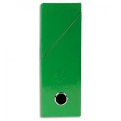 EXACOMPTA Boîte de transfert Iderama, carte lustrée pelliculée, dos 9,5 cm, 34x26 cm, coloris vert foncé