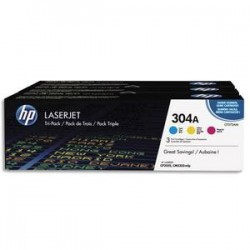 HP Tri pack couleurs laser 304A CF372AM