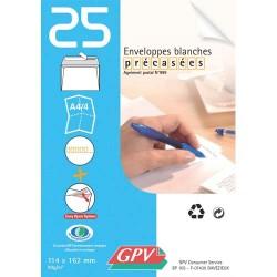 GPV Paquet de 25 enveloppes auto-adhésive 80 grammes format 110x220 mm