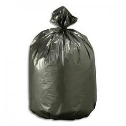 SACS POUBELLES Boîte de 200 Sacs-poubelles noirs top qualité NF 130 litres 40 microns