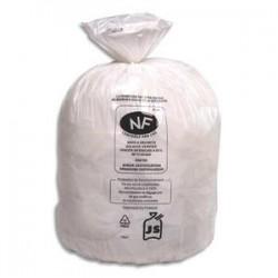 SACS POUBELLES Boîte de 500 Sacs-poubelles blancs top qualité NF 20 litres 18 microns
