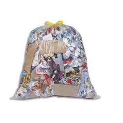 SACS POUBELLES Boîte de 100 Sacs-poubelles à liens coulissants transparents 50 litres 20 microns