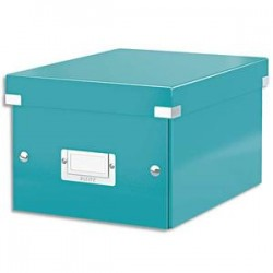 LEITZ Boîte CLICK&STORE M-Box. Format A4 - Dimensions : L281xH200xP369mm. Coloris menthe.