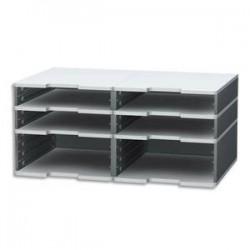 EXACOMPTA Trieur modulodoc 4 cases standard+ 2 cases jumbo