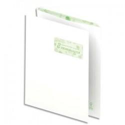 OXFORD Boîte de 500 pochettes recyclées extra blanches 90g format C4 229x324 mm avec fenêtre 50x100 mm