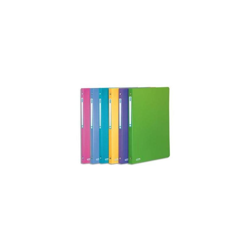 ELBA Classeur 4 anneaux Memphis en polypropylène, dos de 2cm, format A4, coloris assortis style