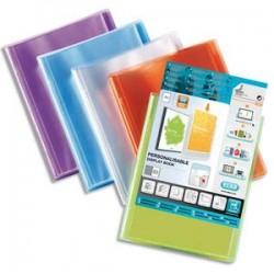 ELBA Protège documents personnalisable POLYVISION 80 vues, 40 pochettes . Coloris assortis