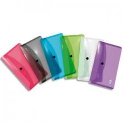ELBA Chemise enveloppe HAWAI, en polypropylène 3/10ème, format DL, coloris translucides assortis