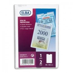 ELBA Etuis 2 faces multi-usages, 8,5 x 13 cm, en PVC 30/100e