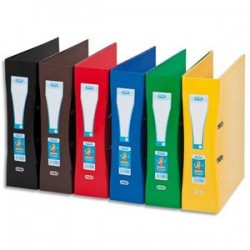 ELBA Classeur à levier SCHOOL LIFE rembordé de papier pelliculé. Dos 80mm, format A4+. Coloris assortis.