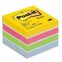POST-IT Mini bloc cube 400 feuilles 5.1x5.1cm couleur ultra