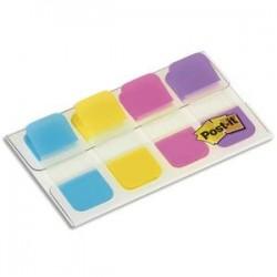 POST-IT Blister de 40 mini marque-pages rigides couleurs vives