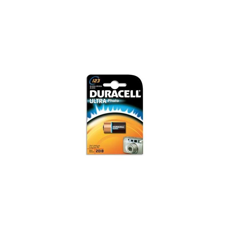 DURACELL Blister d'1 pile 123 Ultra Lithium Duralock pour appareils photos 5000394123106