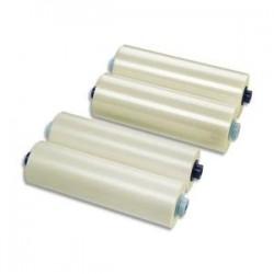 GBC Lot de 2 Rouleaux de film brillant 75 microns par face soit 150 microns 305mmx150m 3400927EZ