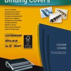 FELLOWES Boîtes de 25 couvertures DELTA format A4 bleu royal 5373901