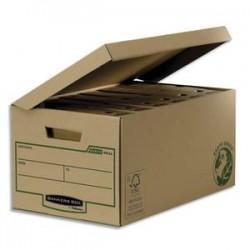 BANKERS BOX Conteneur EARTH SERIES à ouverture sur le dessus, montage manuel, carton recyclé kraft brun