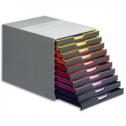 DURABLE Module de classement Varicolor 10 tiroirs multicolore - Dimensions : L29,2 x H28 x P35,6 cm