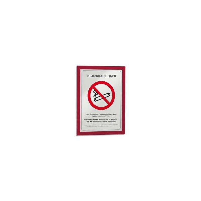 DURABLE Sachet de 2 cadres d'affichage magnétiques Duraframe, format A4, coloris rouge