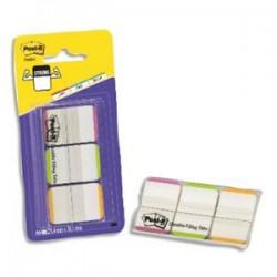 POST-IT Etui 3x22 marque-pages rigides  2,54x3,8cm transparent liseret rouge/bleu/jaune BP291 686L-GBREU