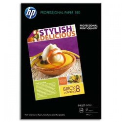 HP Pack de 50 Papier photo professionnel jet d'encre brillant 180g A3 C6821A