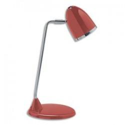 MAUL Lampe Starlet fluorescente livrée avec ampoule bras métal chromé, hauteur 29 cm coloris rouge