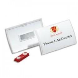 DURABLE Boite de 10 badges 54 x 90 mm à aimant Clickfold