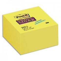 POST-IT Bloc cube 350 feuilles SUPER STICKY 7,6 x 7,6 cm jaune jonquille 2028S